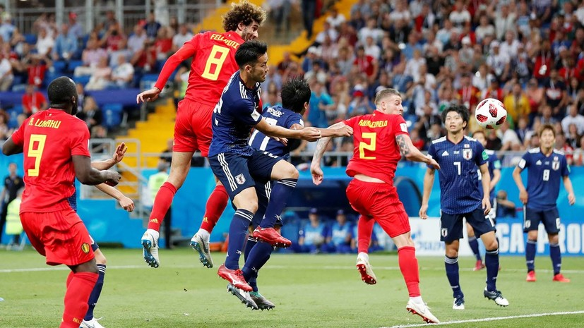Видеообзор матча 1/8 финала ЧМ-2018 Бельгия — Япония