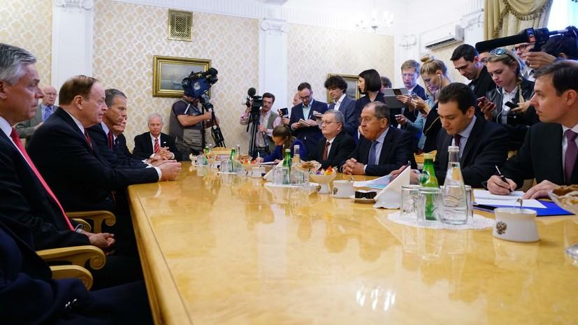 Лавров обсудил с американскими конгрессменами перспективы отношений России и США
