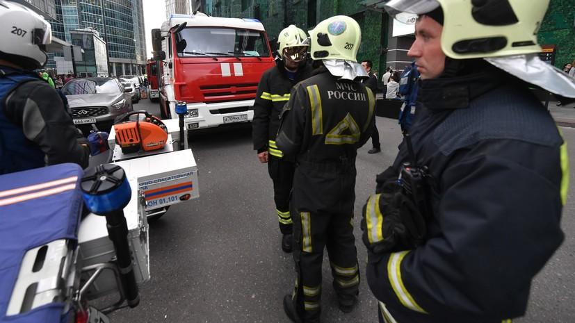 В МЧС сообщили, что пожар в ТЦ Краснодара потушен