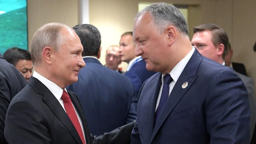Додон намерен встретиться с Путиным 13—14 июля