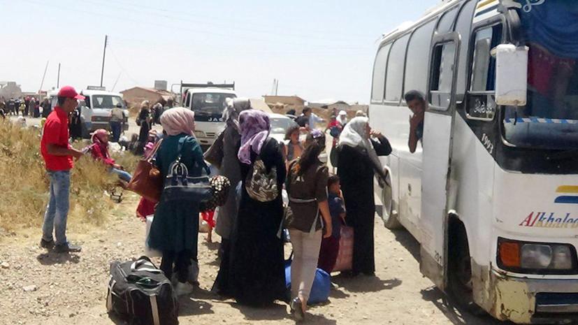ЦПВС: из районов юго-западной зоны деэскалации в Сирии выведено почти 4 тысячи жителей