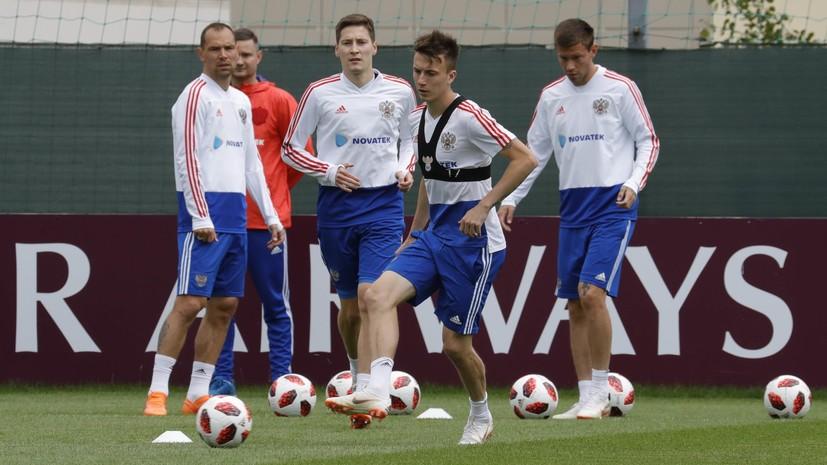 «Мы способны выйти в финал»: сборная России провела тренировку перед матчем с Хорватией