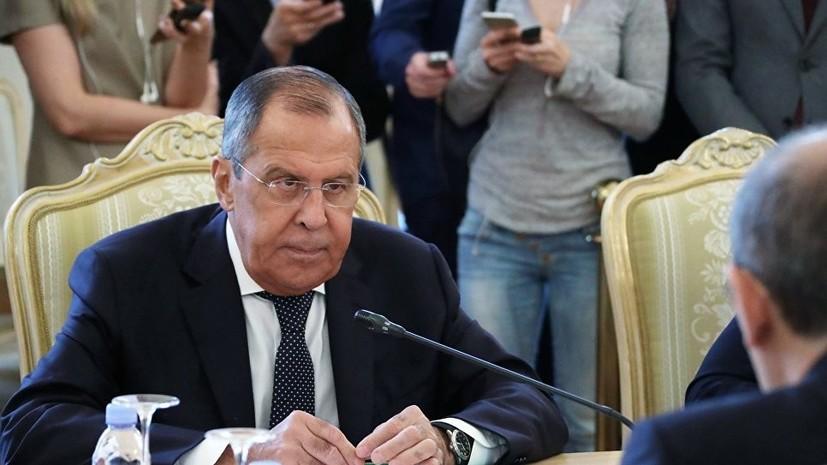 Лавров призвал не обставлять политизированными условиями гуманитарную помощь Сирии