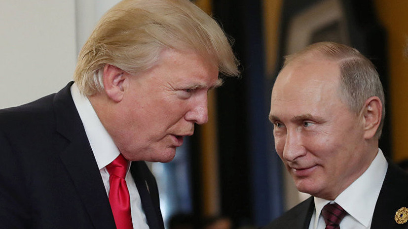 Кремль: Путин поздравил Трампа с Днём независимости США
