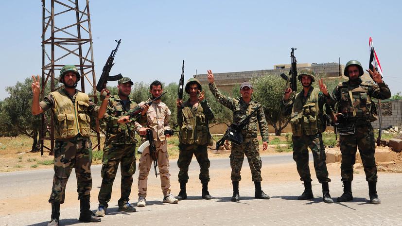 Сирийская армия взяла под контроль главный пограничный переход с Иорданией