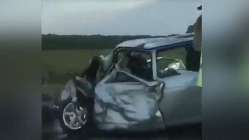 В сети появилось видео ДТП под Краснодаром, в котором погибли девять человек