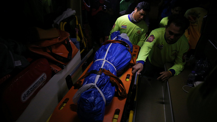 Число погибших при крушении туристического судна у острова Пхукет возросло до 41