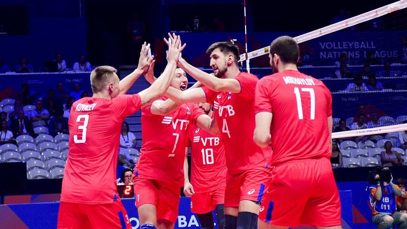 Мужская сборная России по волейболу разгромила Бразилию и вышла в финал Лиги наций