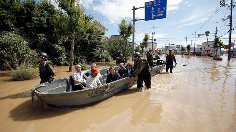 Число погибших из-за ливней в Японии увеличилось до 70 человек