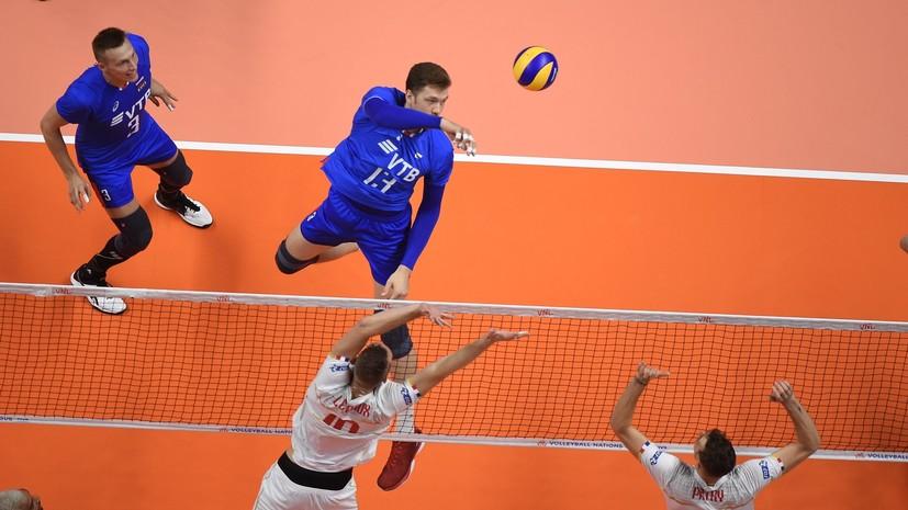 Мужская сборная России по волейболу одержала победу в первом розыгрыше