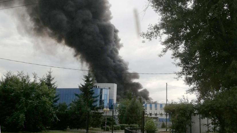 В Иркутске в одном из цехов авиационного завода произошёл пожар