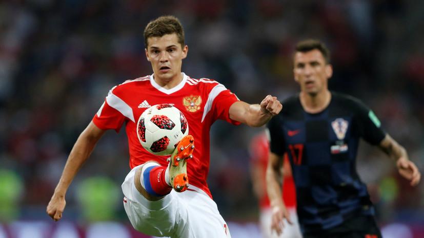 Футболист сборной России Зобнин является лидером ЧМ-2018 по пробегу