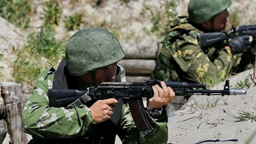 Морская пехота Черноморского флота проводит тренировки ко Дню ВМФ