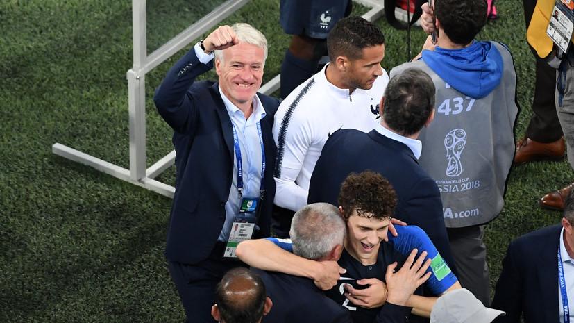 «Гордимся выходом в финал, но хочется большего»: тренер сборной Франции Дешам о победе подопечных и параллелях с ЧМ-1998