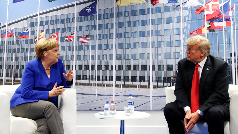 Трамп обсудил с Меркель «Северный поток — 2» и военные расходы
