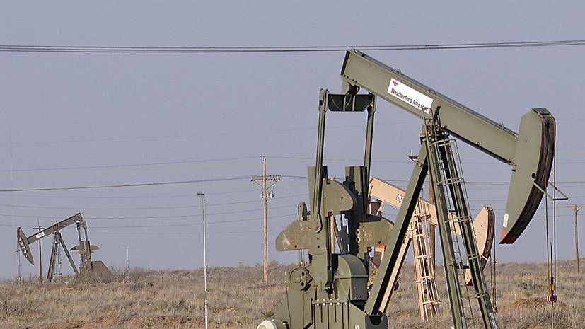 Цена на нефть Brent опустилась ниже $75 за баррель