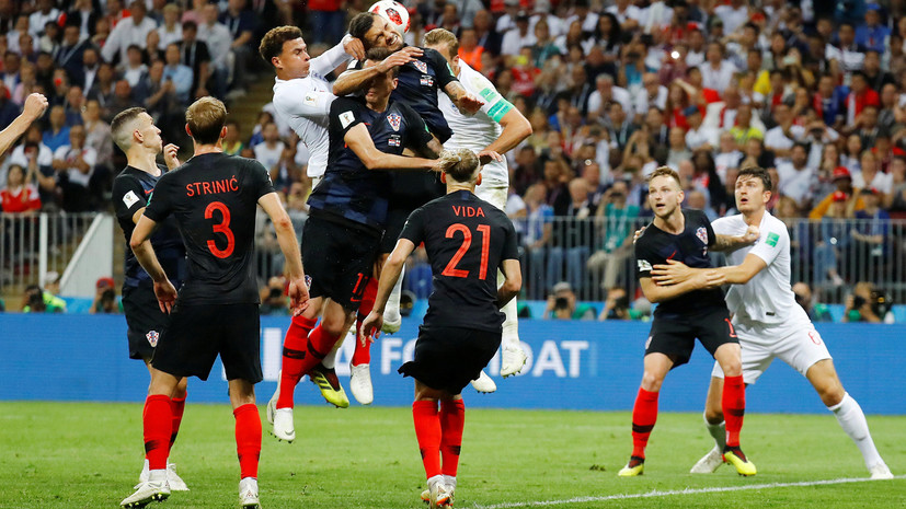 Видеообзор матча 1/2 финала ЧМ-2018 по футболу Хорватия — Англия