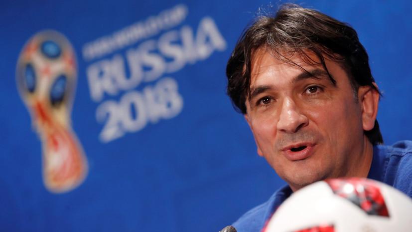 Далич рассказал о состоянии футболистов сборной Хорватии после полуфинала ЧМ-2018 с Англией
