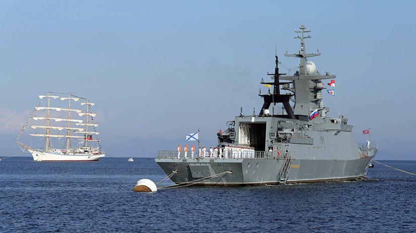 Корвет «Совершенный» выполнил артиллерийскую стрельбу по береговым целям