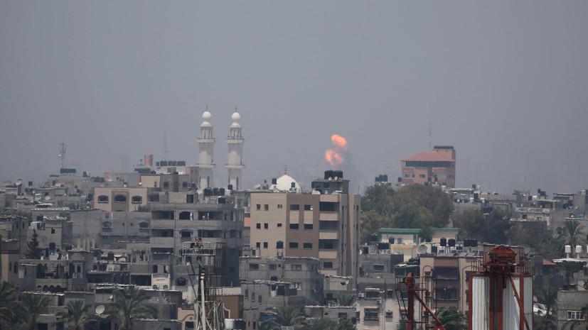 ВВС Израиля за час нанесли десятки ударов по сектору Газа