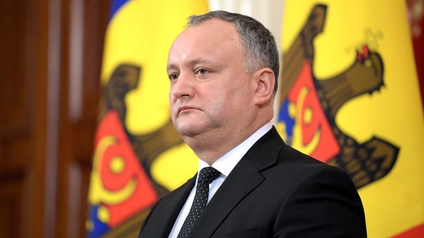 Додон прокомментировал миссию российских миротворцев в Приднестровье