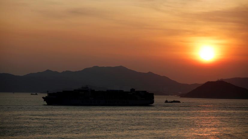 Десять человек пропали без вести в результате крушения грузового судна у берегов Шанхая