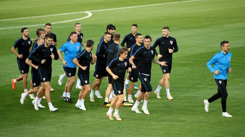 Сборная Хорватии опубликовала стартовый состав на финальный матч ЧМ-2018 с Францией