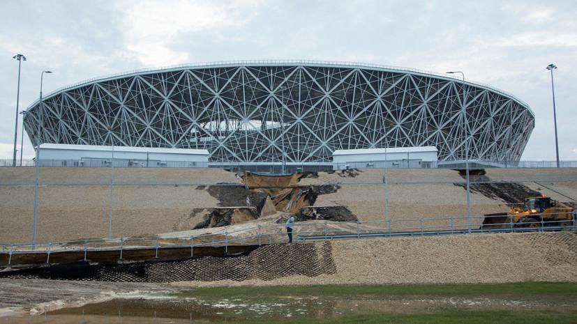 Основные магистрали Волгограда расчистили от грунтовых наносов после ливня