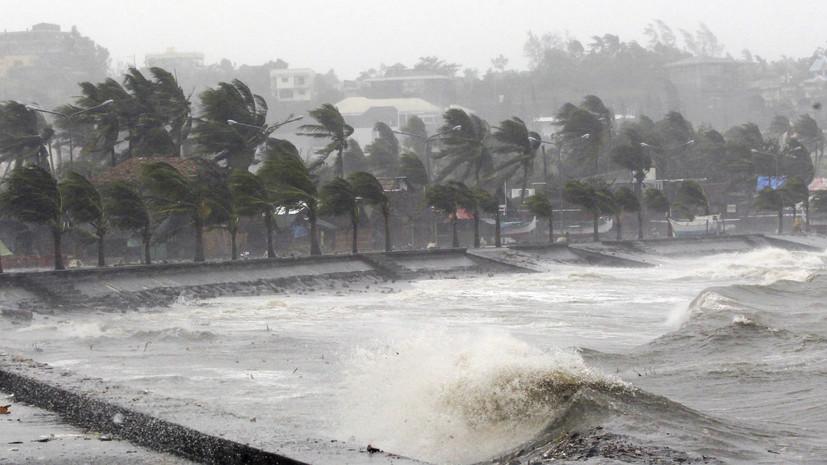 Ростуризм предупредил о шторме на Филиппинах