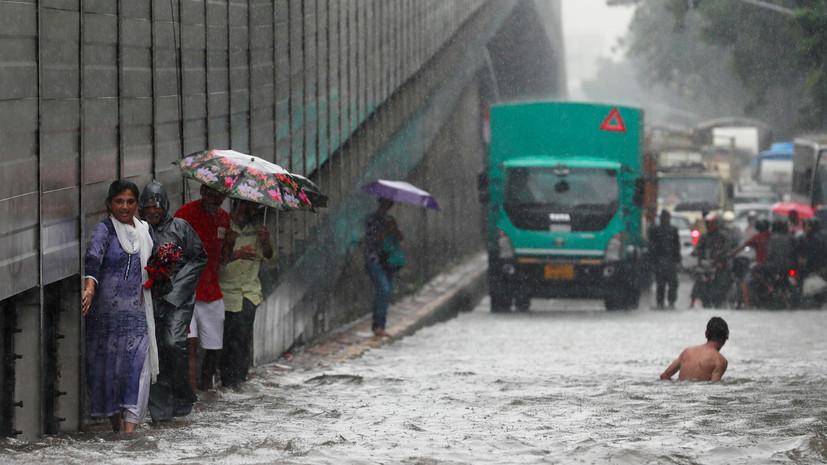 Более 500 человек погибли в Индии из-за последствий муссонных дождей