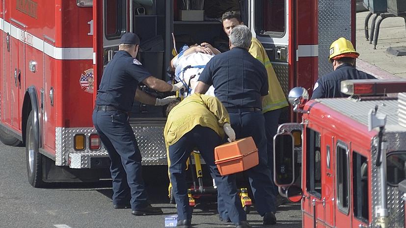 На военной базе в Калифорнии 30 человек пострадали в результате обрушения шатра