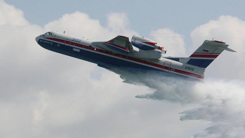 Для борьбы с лесными пожарами в Якутии привлекли два самолёта и вертолёт