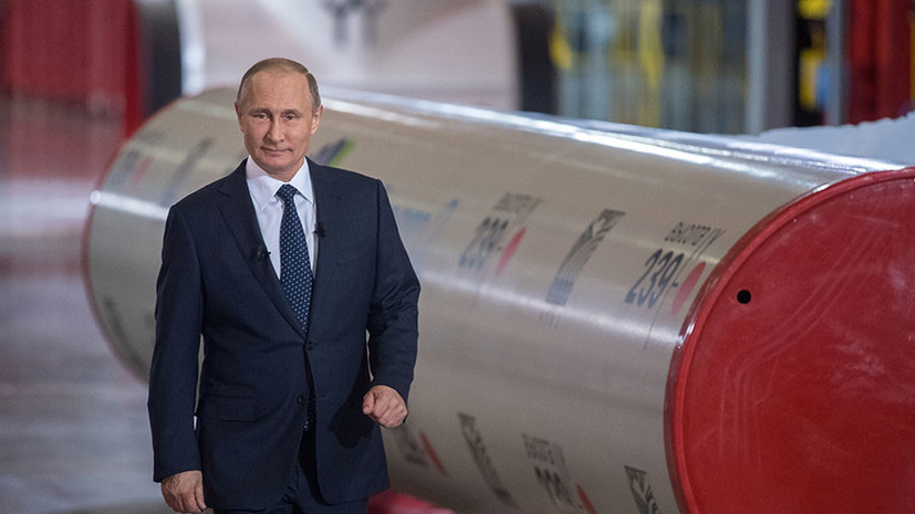Путин заявил об отсутствии политической подоплёки строительства «Северного потока — 2»