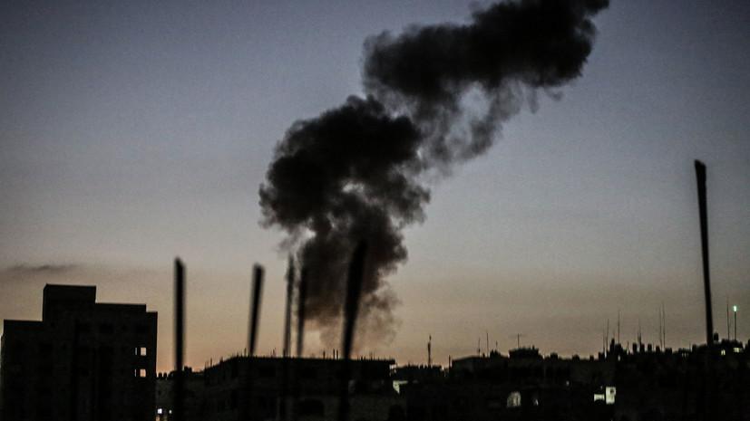 Израильская авиация провела масштабную атаку против объектов ХАМАС в секторе Газа