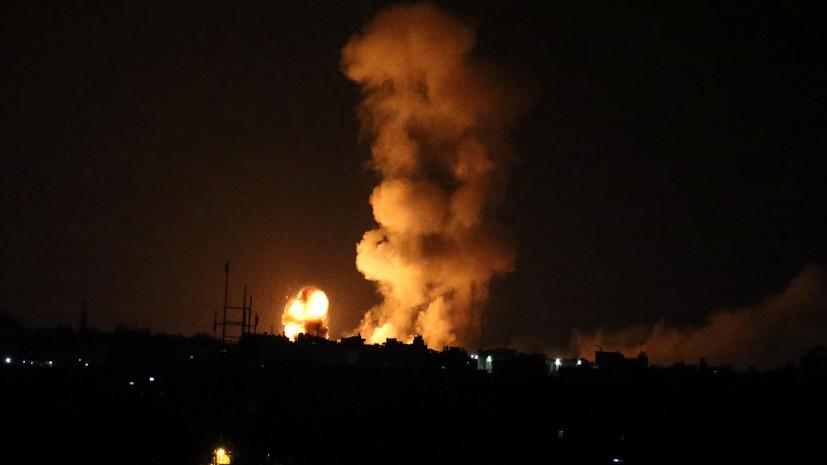 Израиль атаковал объекты «Хамаса» вответ наобстрелы