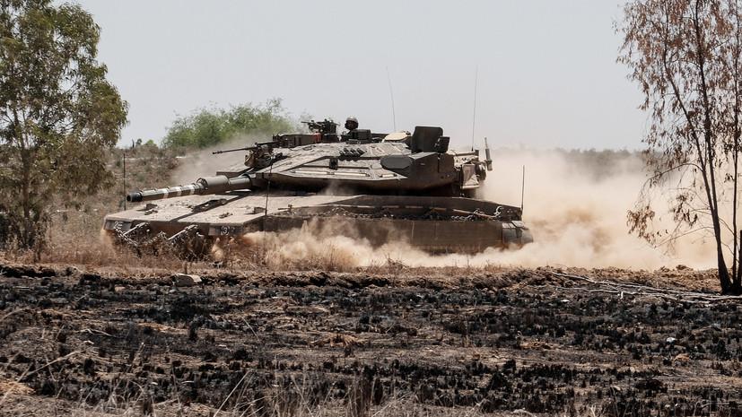 Танк армии Израиляатаковал объект ХАМАС в секторе Газа