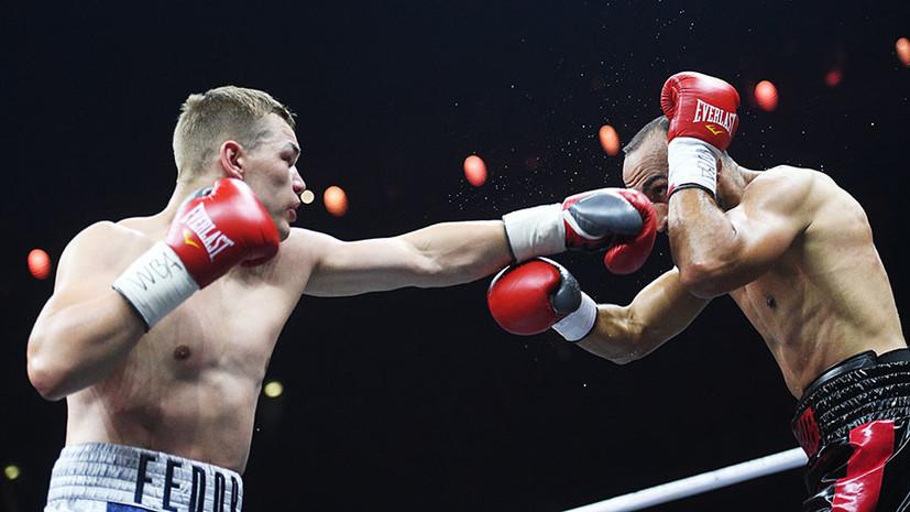 Боксёр Фёдор Чудинов победил француза Мохаммеди в поединке за титул WBA