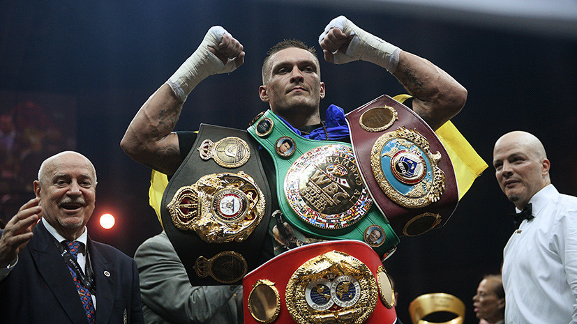 Единогласным решением судей: украинец Усик стал абсолютным чемпионом мира по боксу после боя с россиянином Гассиевым