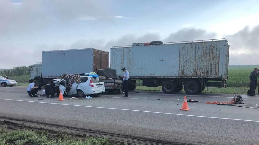 В Волгоградской области в результате ДТП погибли пять человек