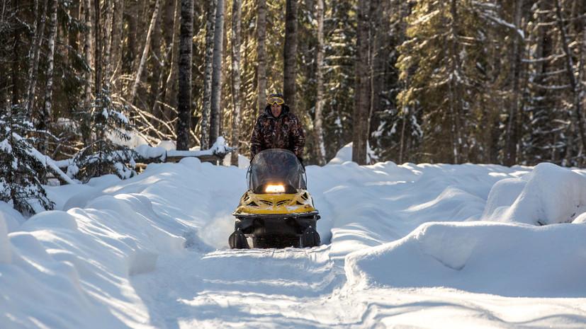 В Удмуртии запретили передвигаться на снегоходах по парку «Шаркан»