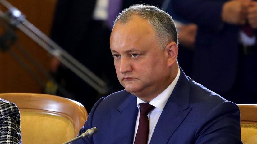 Додон заявил, что диалог Путина и Трампа может помочь разрешить приднестровский вопрос