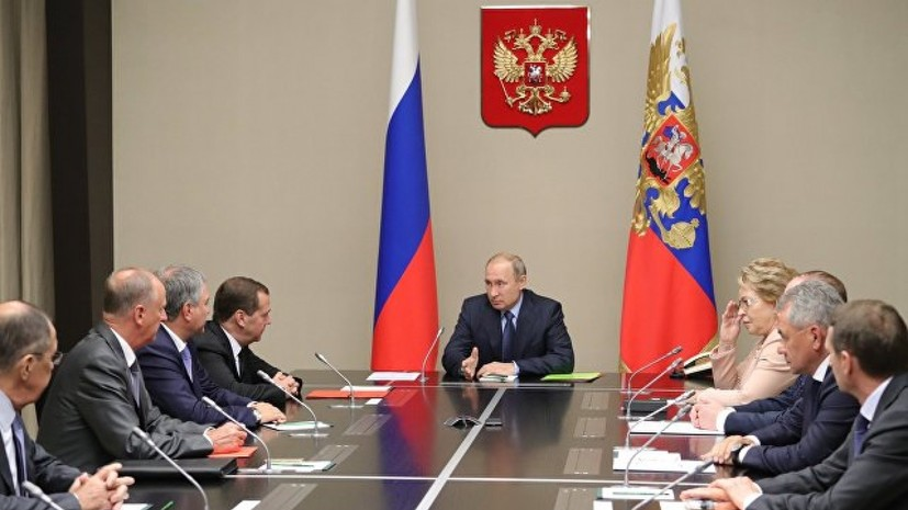 Путин обсудил с членами Совбеза России предстоящие контакты на саммите БРИКС
