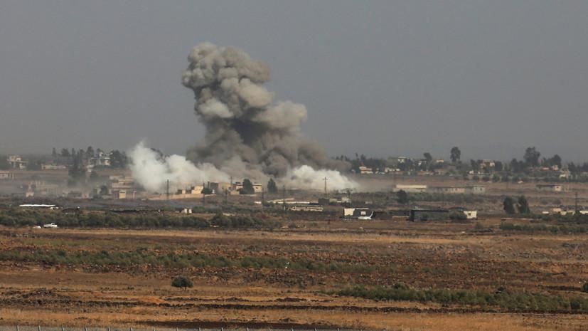 Израильская авиация поразила установку, выпустившую две ракеты с территории Сирии