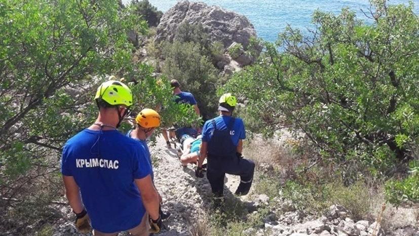 В Крыму спасли сорвавшихся со склона горы на квадроцикле туристов