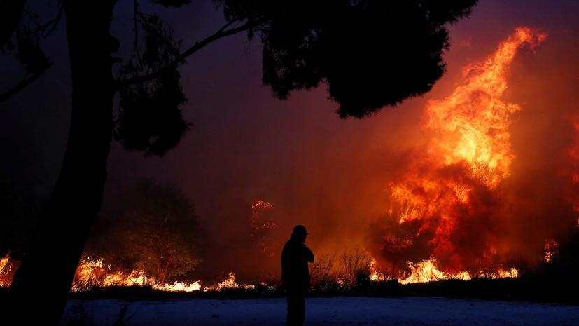 В Греции заявили, что причиной пожаров в стране могли быть поджоги