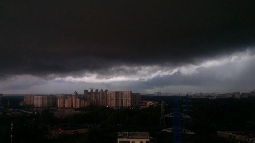 МЧС предупредило о сильном дожде и грозе в Московской области в ближайшие часы