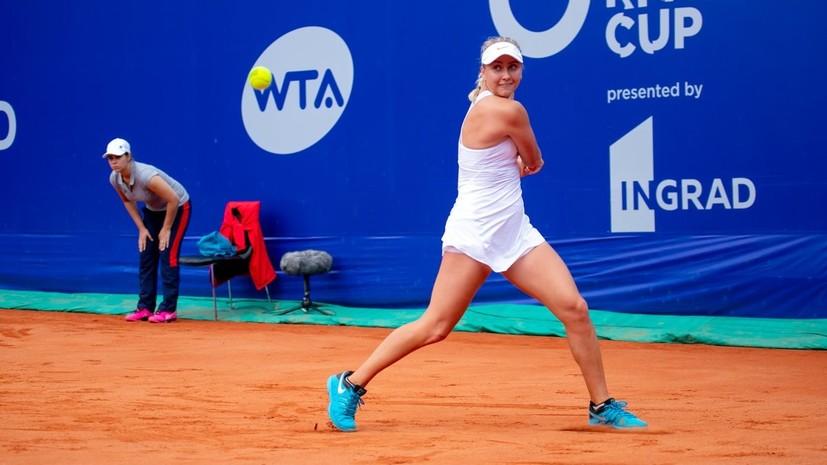Потапова победила Ивахненко и вышла в полуфинал турнира WTA в Москве