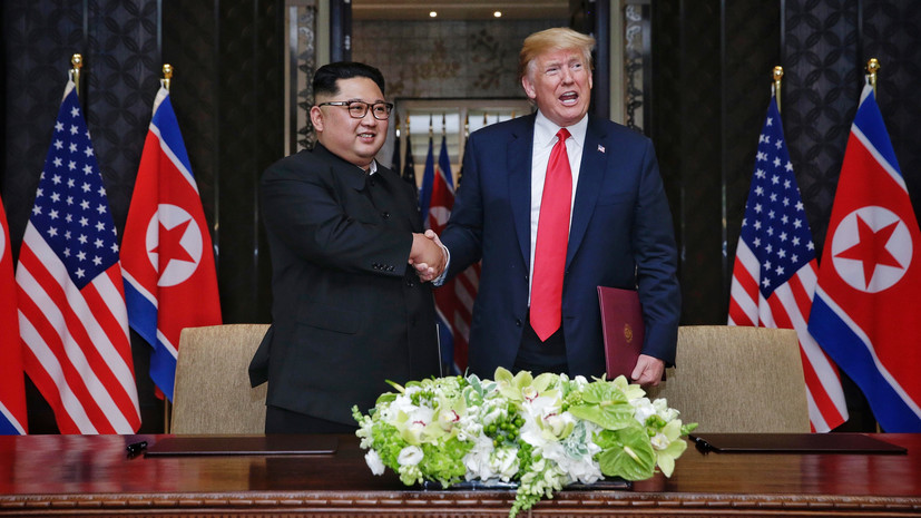 Президент США Дональд Трамп выразил благодарность северокорейскому лидеру Ким Чен