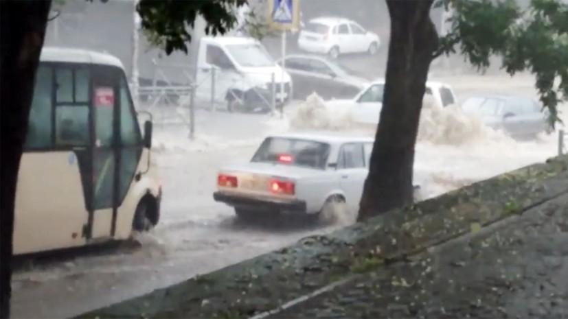 В Кисловодске объявили режим ЧС из-за непогоды