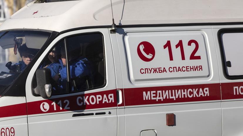 В Омске пятеро рабочих пострадали при обрушении строительных лесов